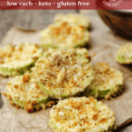 These keto Almond Parmesan Crusted Zucchini Crisps are my favorite way to add some extra vegetables to my diet, while still enjoying a nice crispy low carb appetizer.
