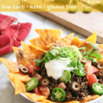 Cheesy Keto Nachos | Peace Love and Low Carb