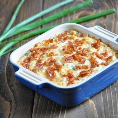 Low Carb Loaded Cauliflower Casserole | Peace Love and Low Carb