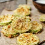 Almond Parmesan Crusted Zucchini Crisps | Peace Love and Low Carb