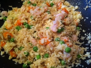 "Shrimp Fried Cauliflower ""Rice"""