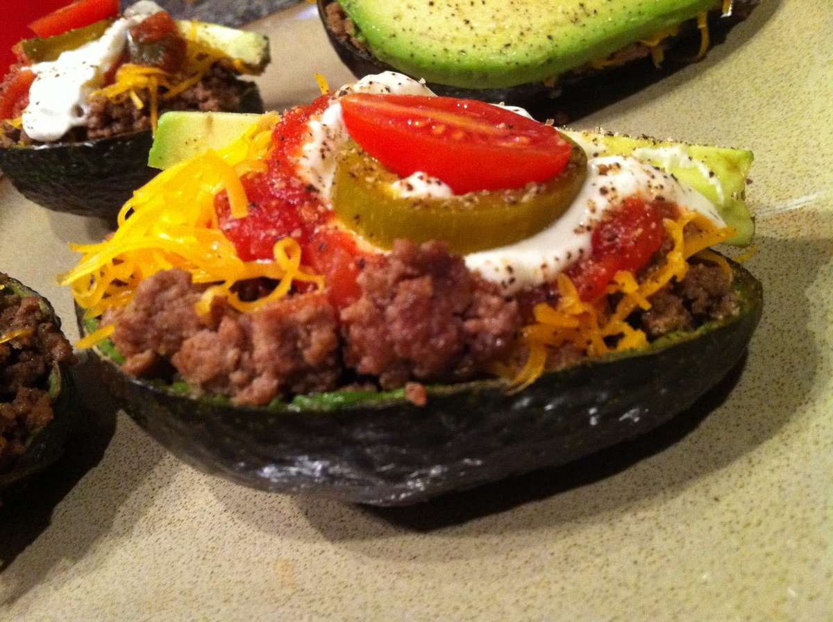 Keto Taco Tuesday Recipes - Avocado Taco Boats - Low Carb, Gluten Free