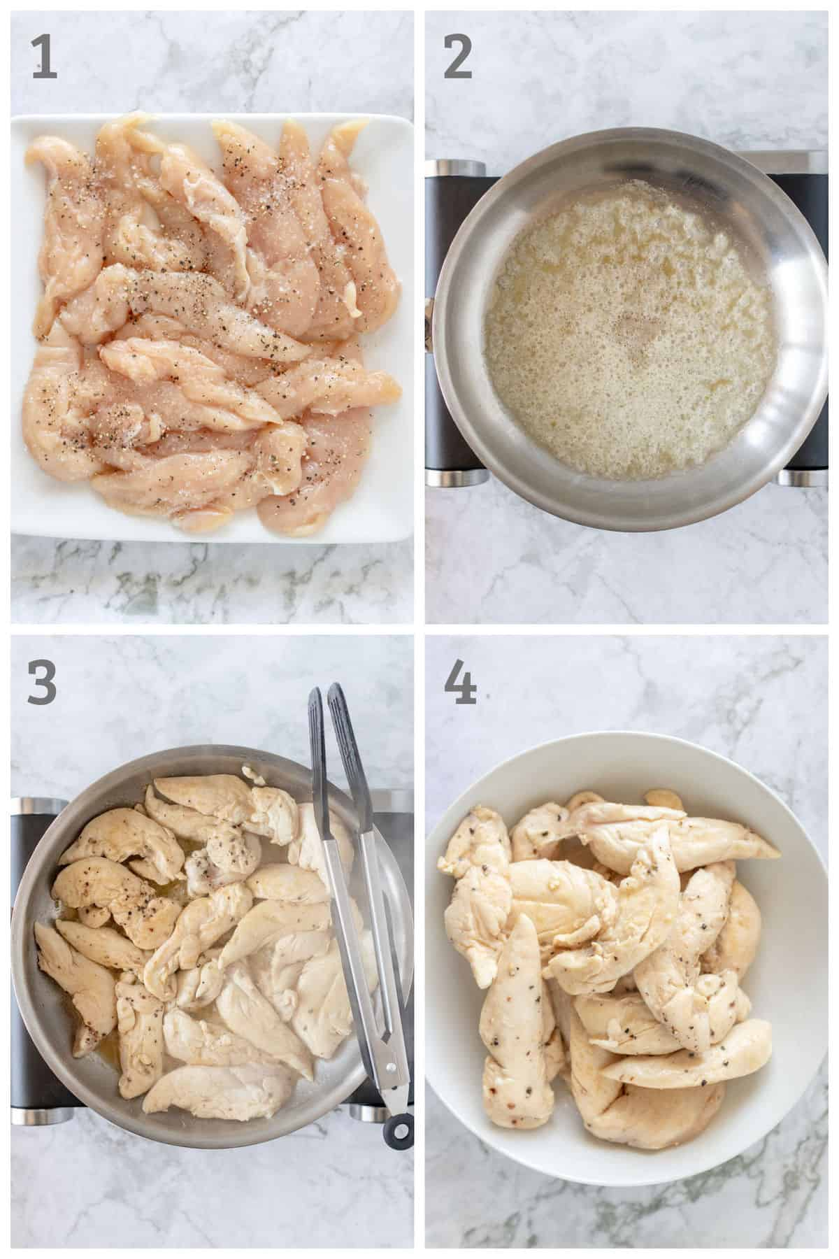 Step by step instructions for making a one pot mustard chicken with mushrooms and artichokes
