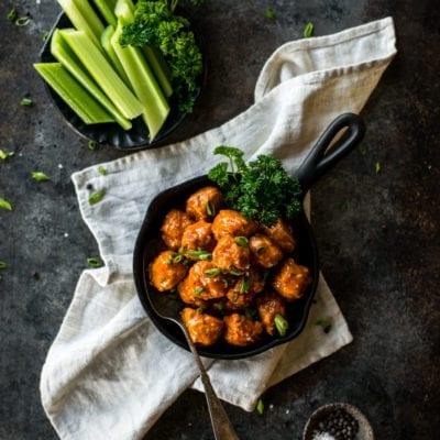 Keto Buffalo Chicken Meatballs   Peace Love and Low Carb