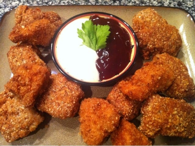 Almond-Parmesan Crusted Chicken Nuggets | Peace Love and ...