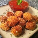 Low Carb Fried Mozzarella Balls