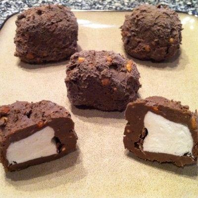 Chocolate Peanut Butter Ice Cream Bites