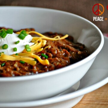 Slow Cooker Kickin Chili | Peace Love and Low Carb