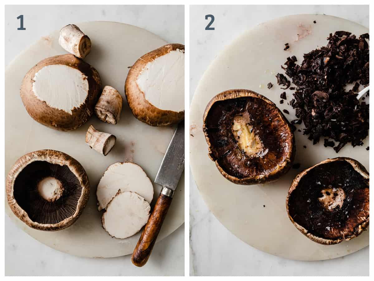 Step-by-Step Directions to make Portobello Cordon Bleu with Dijon Cream Sauce