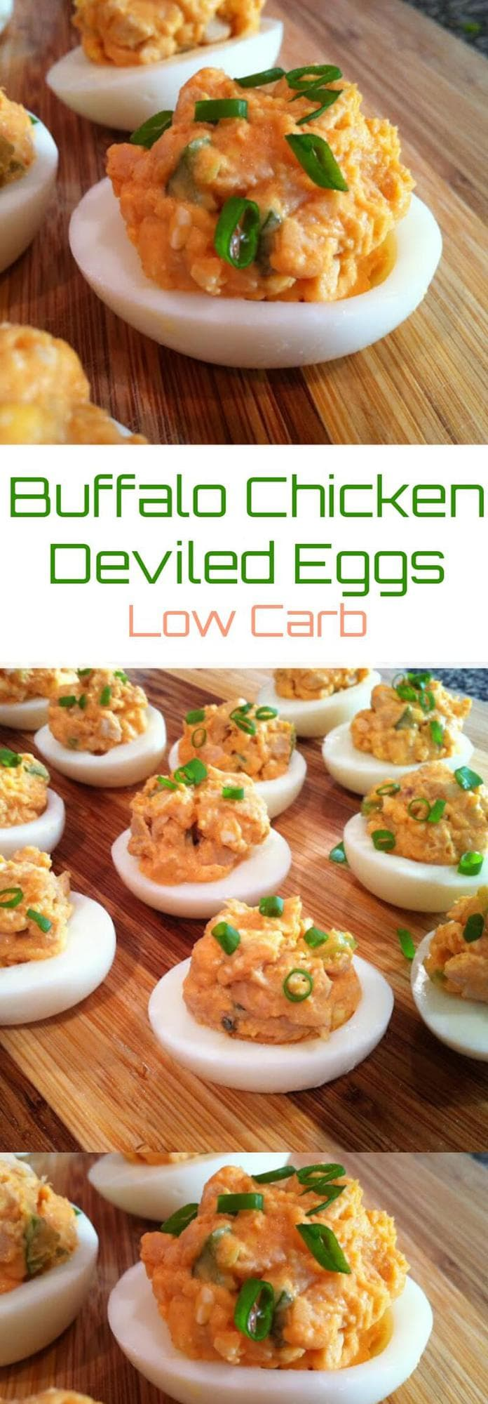 Keto Buffalo Chicken Deviled Eggs   Peace Love and Low Carb