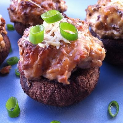 Bacon, Blue Cheese and Caramelized Onion Stuffed Mushrooms