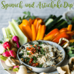 Keto Roasted Red Pepper Spinach and Artichoke Dip | Peace Love and Low Carb