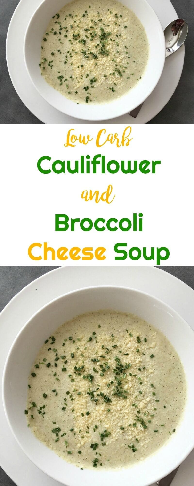 Low Carb Cauliflower and Broccoli Cheese Soup | Peace Love and Low Carb #lowcarbsoup #cauliflowerandbroccolicheesesoup #lowcarb #keto #lowcarbrecipe