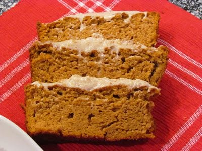 Low Carb Pumpkin Loaf with Cinnamon Cream Cheese Frosting