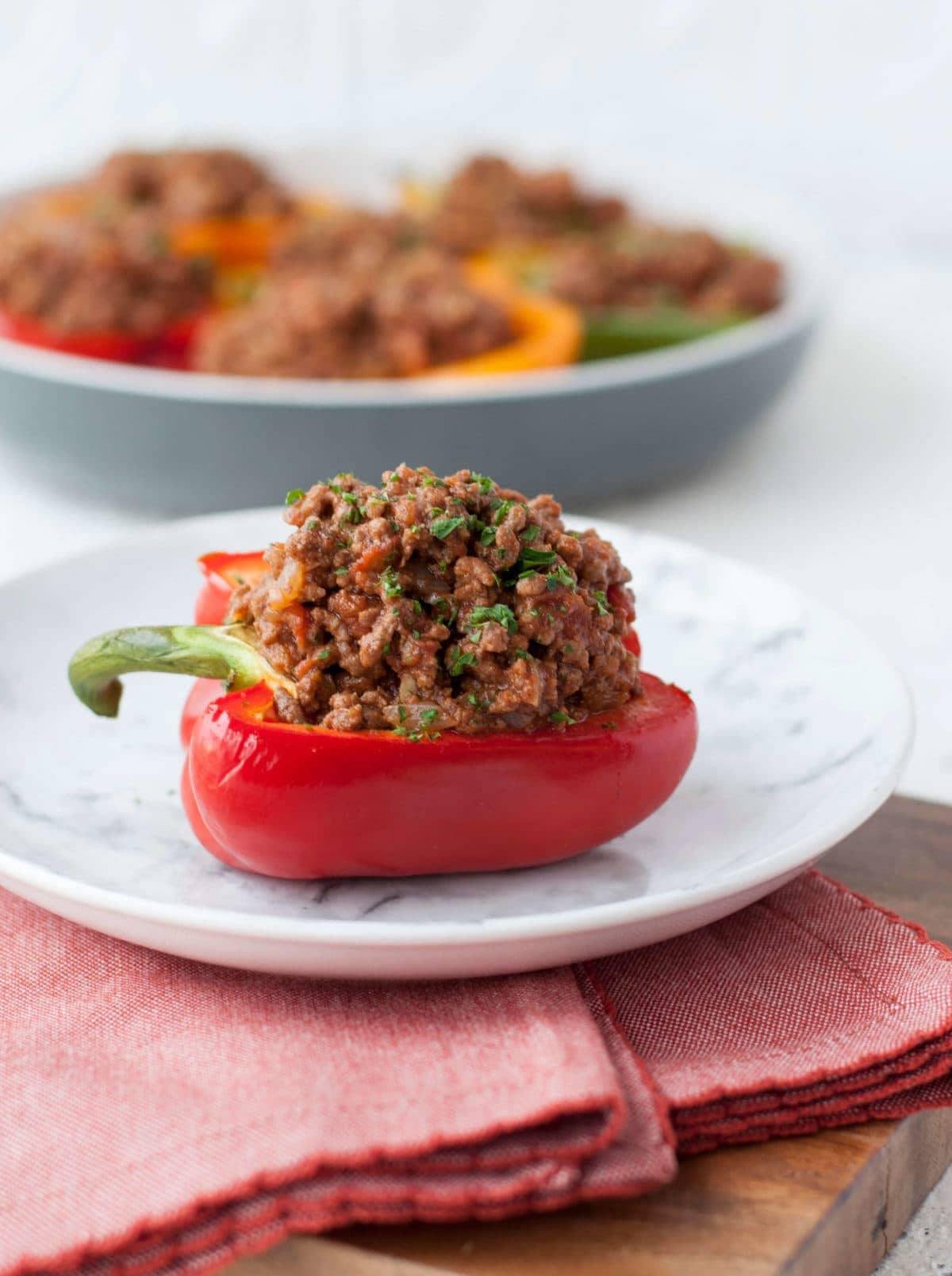 Low Carb Sloppy Joe Stuffed Peppers | Peace Love and Low Carb