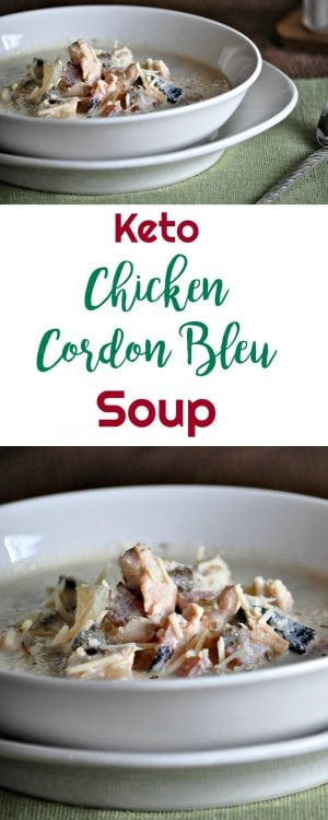 Keto Chicken Cordon Bleu Soup - Peace Love and Low Carb