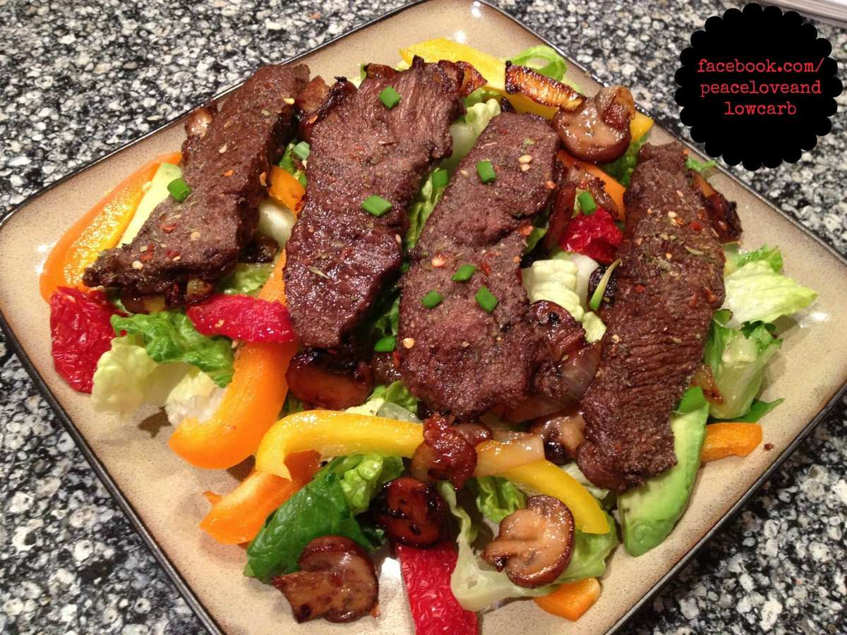 Balsamic Flat Iron Steak Salad - Paleo, Low Carb
