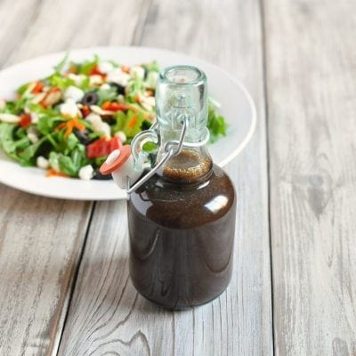 Balsamic Shallot Vinaigrette Dressing | Peace Love and Low Carb
