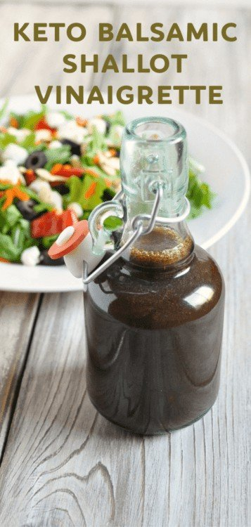 Balsamic Shallot Vinaigrette - Peace Love and Low Carb