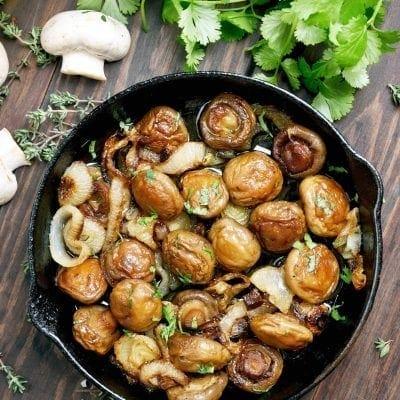 Balsamic Shallot Mushrooms