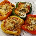 Pepperoni Pizza Stuffed Peppers - Low Carb, Gluten Free | Peace Love and Low Carb