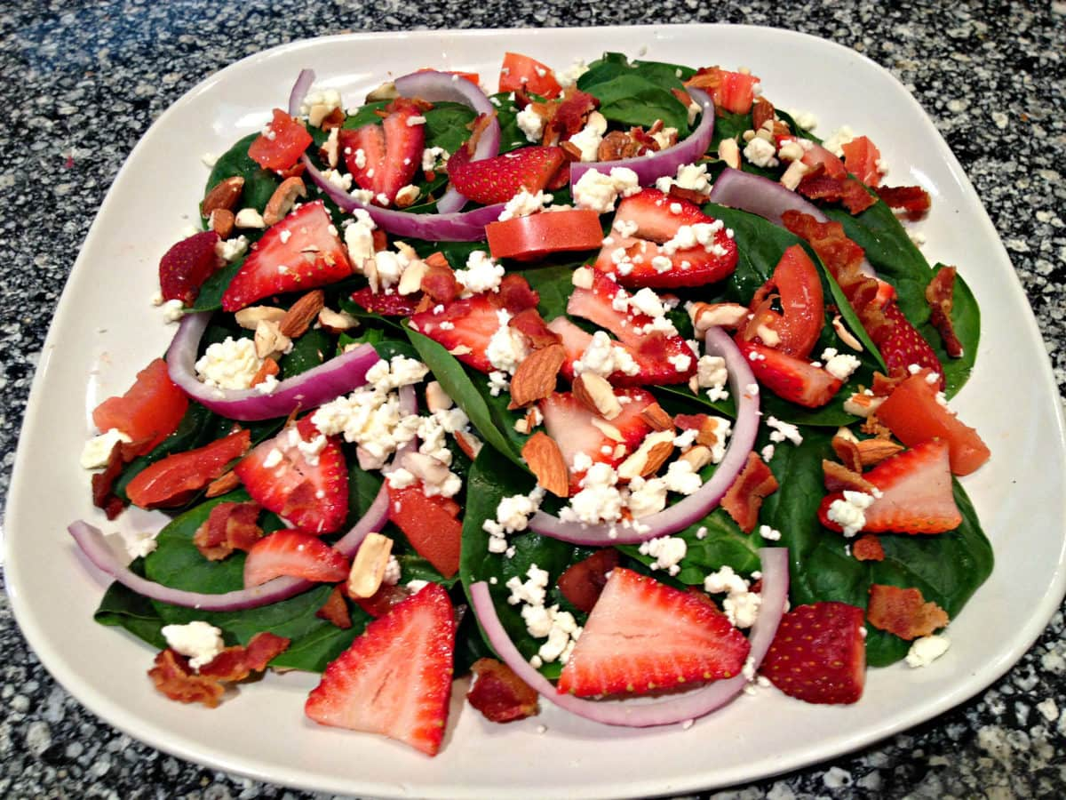 Strawberry Spinach Salad - Low Carb, Gluten Free | Peace Love and Low Carb