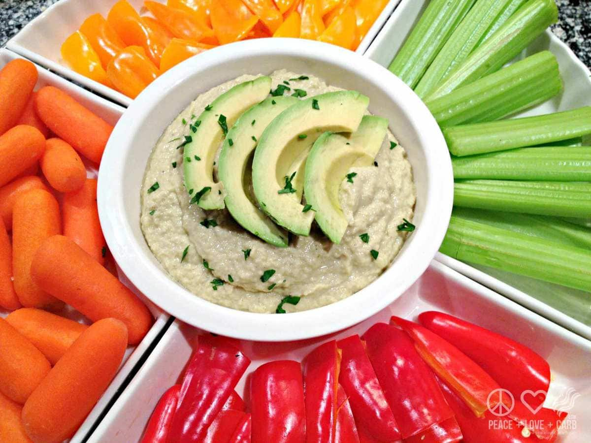 Paleo Avocado Hummus - Peace Love and Low Carb