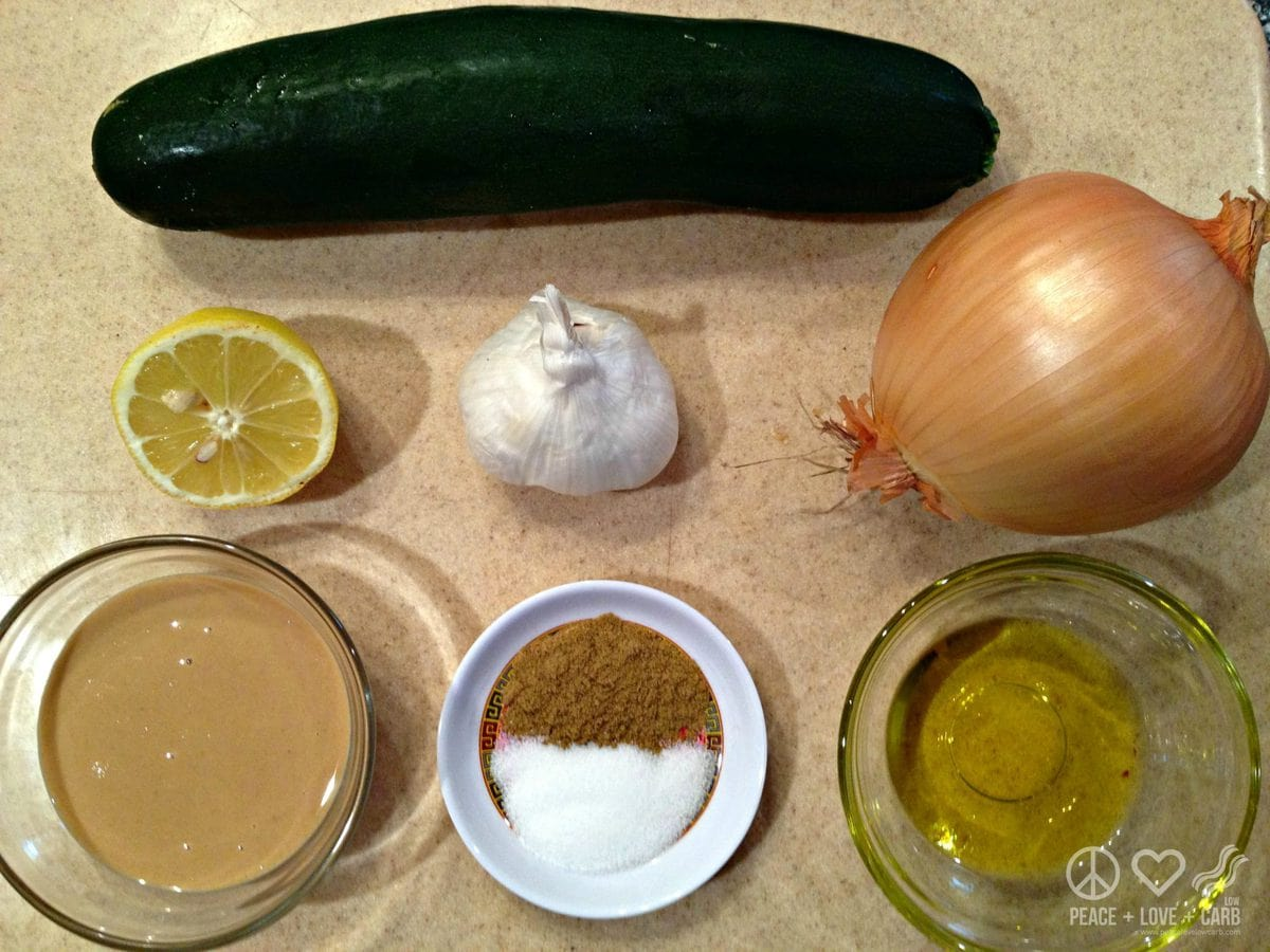 Caramelized Onion Hummus Ingredients - Low Carb, Paleo   Peace Love and Low Carb