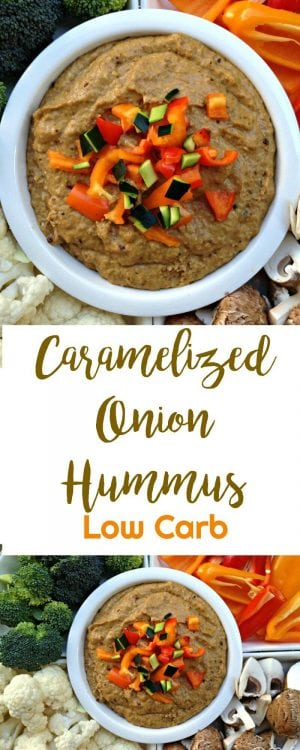 Caramelized Onion Hummus | Peace Love and Low Carb