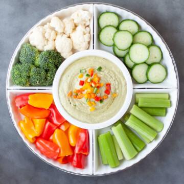 Avocado Keto Hummus | Peace Love and Low Carb