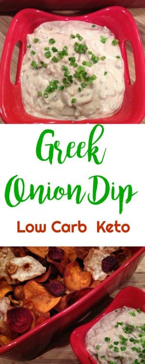 Greek Onion Dip | Peace Love and Low Carb