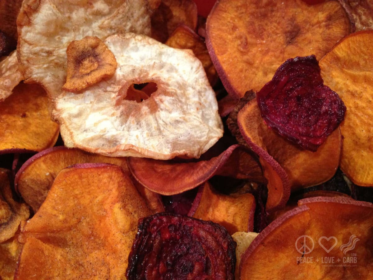 Low Carb Chips Salt and Pepper Veggie Chips |Peace Love and Low Carb