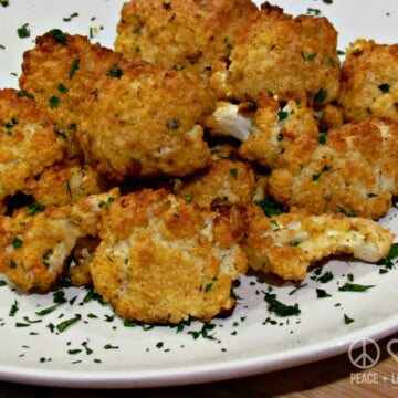 Dijon Parmesan Roasted Cauliflower Peace Love and Low Carb