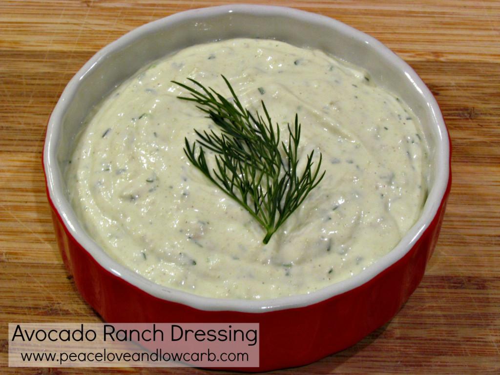 Avocado Ranch Dressing – Low Carb, Gluten Free