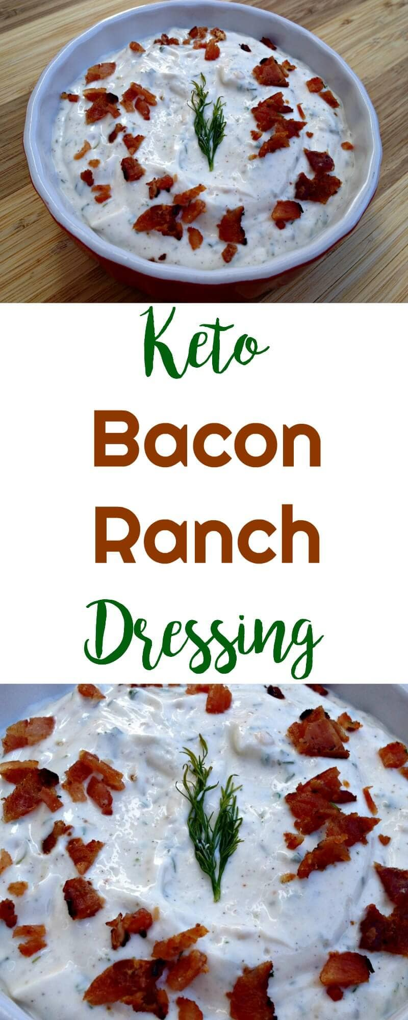 Keto Bacon Ranch Dressing | Peace Love and Low Carb