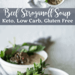 Low Carb Beef Stroganoff Soup | Peace Love and Low Carb