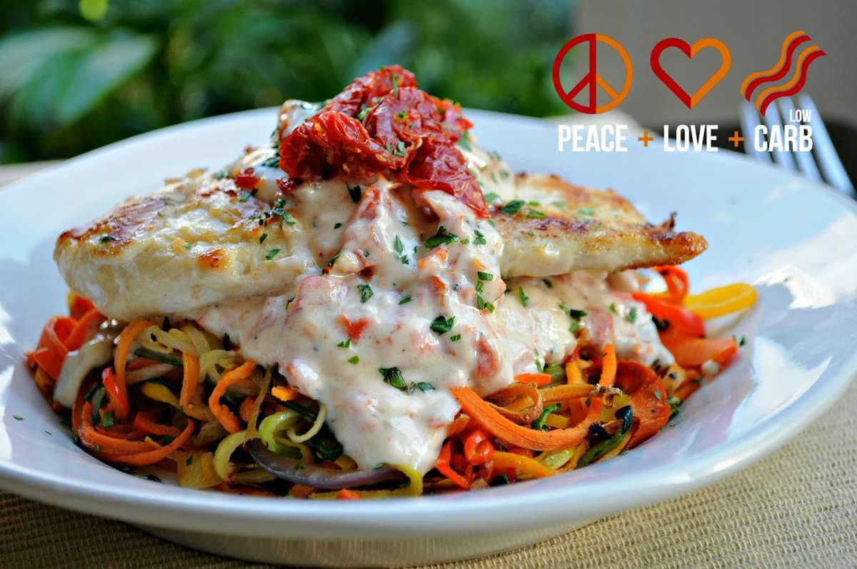 Rainbow Vegetable Noodles Peace Love And Low Carb