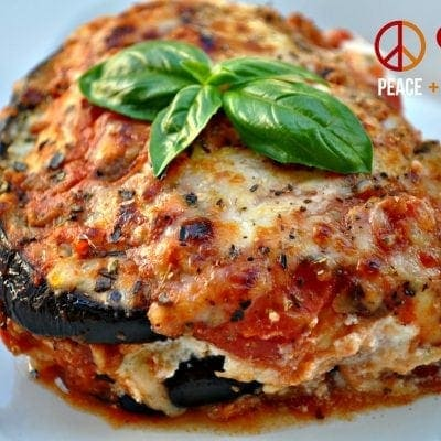 Low Carb Eggplant Lasagna with Meat Sauce
