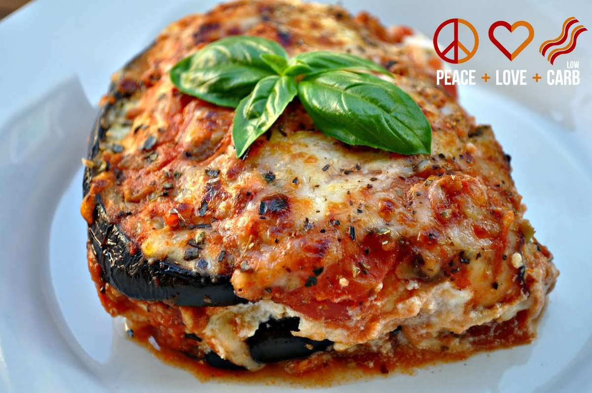 Eggplant Lasagna with Meat Sauce - Low Carb Lasagna