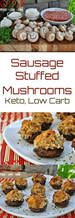 Sausage Stuffed Mushrooms | Peace love and Low Carb.jpg