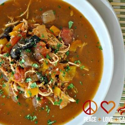 Chicken Fajita Soup – Low Carb, Paleo, Gluten Free