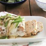 Low Carb Chicken Philly Cheesesteak Meatloaf - Peace Love and Low Carb