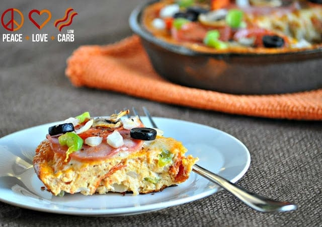 Keto Pizza Frittata - Low Carb Gluten Free | Peace Love and Low Carb