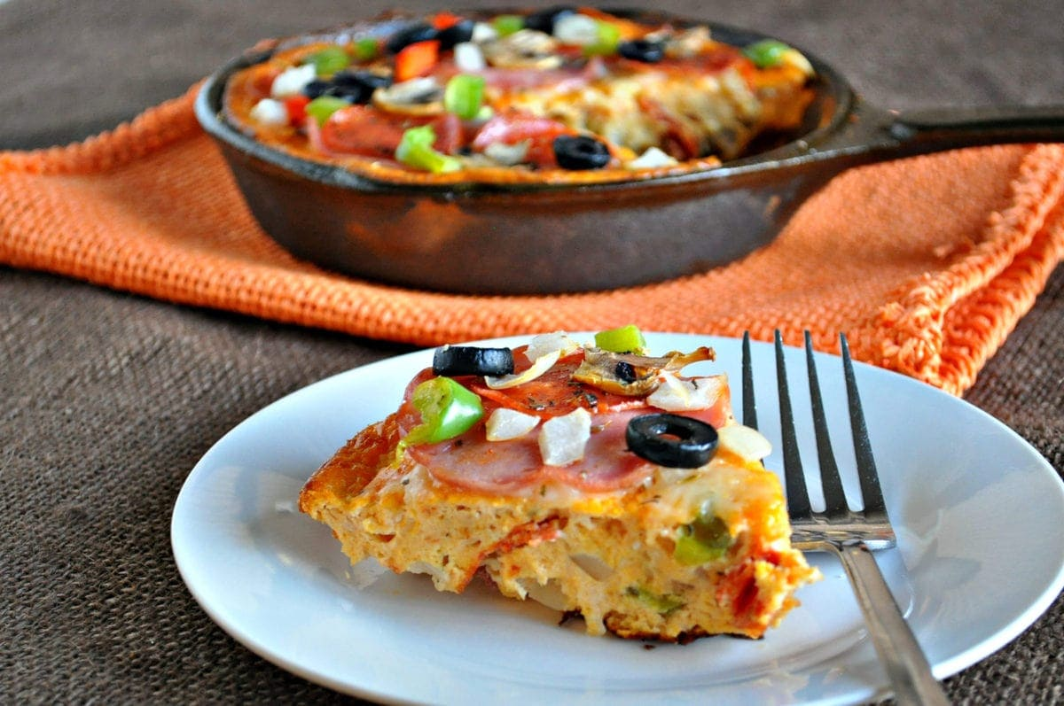 Keto Pizza Frittata | Peace Love and Low Carb