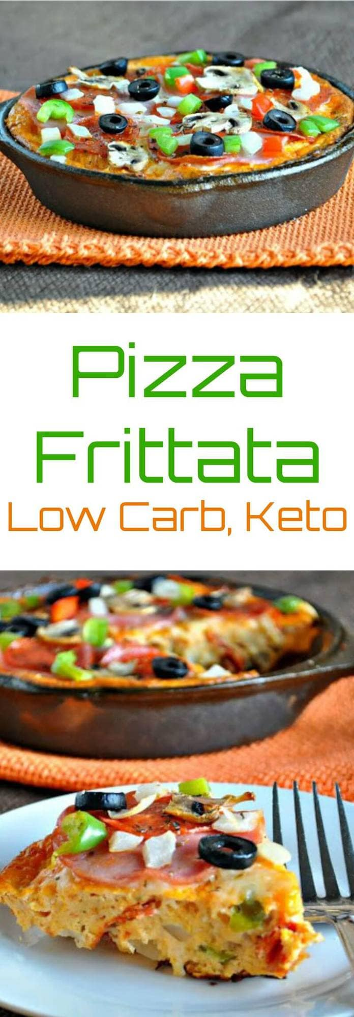Pizza Frittata | Peace Love and Low Carb #pizzafrittata #lowcarb #keto #lowcarbfrittata #lowcarbrecipe