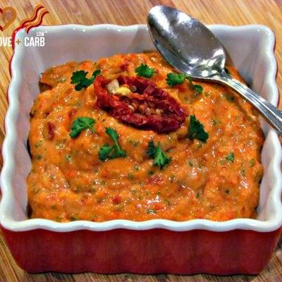 Sun-dried Tomato, Garlic Dip – Low-carb, Paleo, Gluten-Free