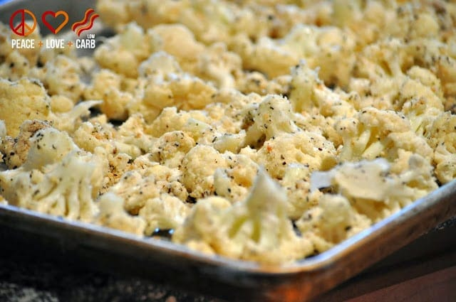 Garlic Parmesan Roasted Cauliflower | Peace Love and Low Carb