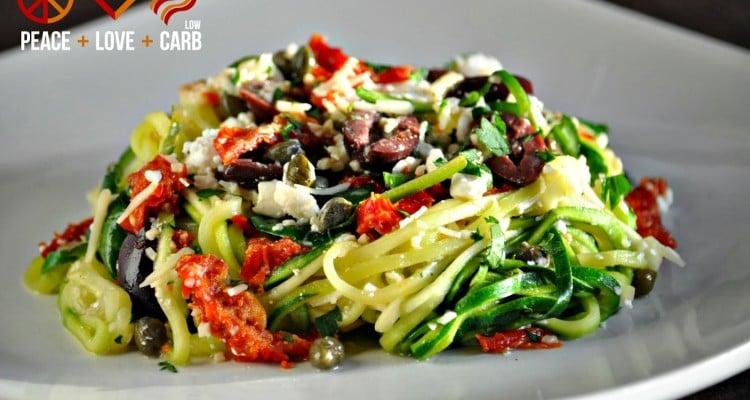 "Mediterranean ""Pasta"" – Low Carb, Gluten Free, Primal"