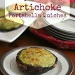 Spinach Artichoke Portabella Quiches
