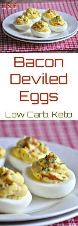 Bacon Deviled Eggs | Peace Love and Low Carb